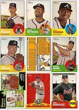 2012 Topps Heritage Baseball Atlanta Braves Complete Team Set (21)