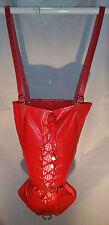 Red Armbinder with Corset Laces, MonoGlove, Single Glove, Bondage, fetish, UK