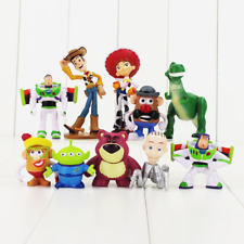 10PCS/Lot 3~7cm Toy Story 3 Buzz Light Year Woody Jessie PVC Action Figure Dolls