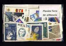 Planète Terre - Planet Earth 50 timbres différents oblitérés