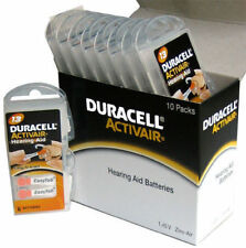 4 x  Pcs Duracell Activair Hearing Aid Batteries Size 13 Exp 08 2022 Power one