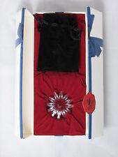 Swarovski Red Marguerite With Mini Crystals Nib 3 Year Renewal Gift 255807