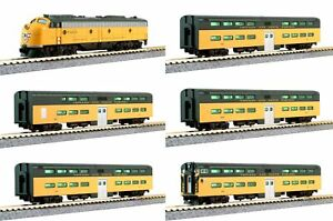 Kato 106-104-LS C&NW N Gauge Diesel Passenger with LokSound Train Set