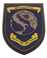 BOSNIA WAR VETERAN HAND MADE MESS PLAQUE RLC REME RCT PARA MARINE ETC