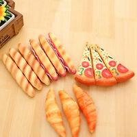 Novelty Pen Pizza Bread Hot Dog Ox Horn Fast Food Ballpoint Pen Stationery HGUK