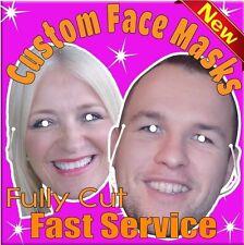 4 masques visages A4 Personnalisé carte photo bord de la vie Taille découpe imprimer Poule Cerf