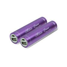 2 2600MAH BATTERY POWER CHARGER MICRO USB PURPLE NOKIA LUMIA 920 1020 HTC ONE X