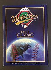 1992 World Series Site Program Game 3 4 5 Toronto Blue Jays Sky Dome Baseball