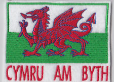 PROUD TO BE WELSH DRAGON FLAG BIKER PATCH CLUB TRIKER SEW ON
