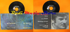 LP 45 7'' GIO'TROVATORE Cindy Monologo al mare 1972 italy DURIUM cd mc dvd