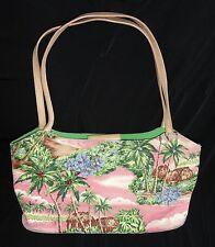 Fossil Forever Pink Tropical, Polynesian, Hawaiian Handbag Purse / Shoulder bag