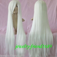 Nwi wig cosplay long white heat Resistant wig 100cm