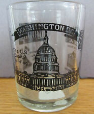 WASHINGTO D.C.   SHOT GLASS / TOOTH PICK HOLDER  CAPITOL, WHITE HOUSE & MORE