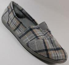 NEW Womens SODA OBJECT PLAID  Slip On Loafers  PADDED Footbed Shoe SZ 6.5