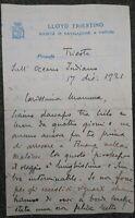 1921 43) CEYLON LETTERA CONSOLE ITALIANO VIAGGIO PIROSCAFO TRIESTE PER TIENTSIN