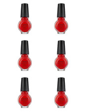 Konad Stamping Nail Art Special Polish RED 11ml (LOT OF 6) LOWEST PRICE