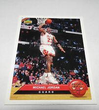 1992/93 Michael Jordan Chicago Bulls NBA Upper Deck McDonald's Insert Card #P5