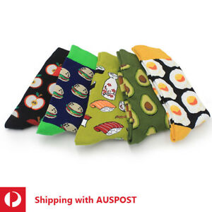 Men/Women Cotton Socks Size 7-12 Funky Colourful Sox Novelty Crew Casual Party