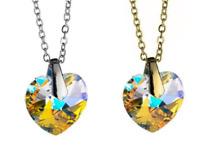 12 Pcs Swarovski Crystal Aurora Borealis Heart Necklaces