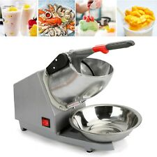 Ice Shaver Machine Snow Cone Maker Shaved Ice 143lbs Electric Crusher Shaving Ee