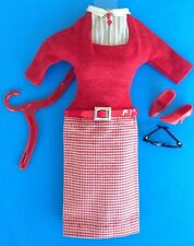 VTG BARBIE STUDENT TEACHER #1622 Original Dress w/Belt,Glasses & Red Heels 1965