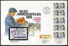 Schweiz 1988 FDC Markenheftchen MH 0-84: Postbeförderung