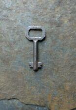 Antique Double Bit Solid Shaft Key Marked: 11 Roll Top Desk Key