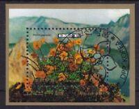 Gebirgsblumen Blumen Korea Block 52, gest, Flora, fowers, used