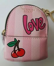 Victoria's Secret Mini City Backpack Faux Leather Keychain Keyring Handbag Charm