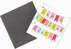 'HAPPY BIRTHDAY AUNTIE' BIRTHDAY GREETING CARD - FOILED - QUALITY - FREE P&P