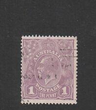 Australia 1922 : 1d. Violet - King George V Head - 2nd Watermark - Used