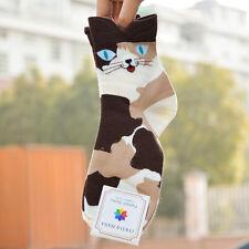 3d Animals Striped Cartoon Socks Women Lady Girl Cat Footprints Cotton Socks Hot Coffee