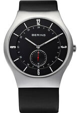 BERING MEN'S WATCH 11940-409 Analogue Leather Black