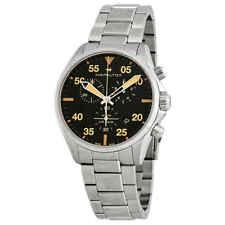 Hamilton Khaki Pilot Black Dial Stainless Steel Men's Watch H76722131