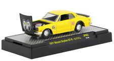 M2 Nissan Skyline GT-R 1971 Yellow with Black Hood Mooneyes 32500 JPN03 1/64