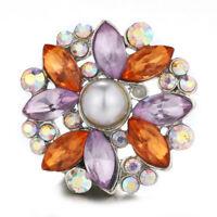 10pcs Charm Crystal Owl 18mm Snap Button For Noosa Necklace//Bracelet N878