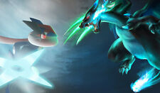 492 Pokemon Ashe Greninja VS Mega Charizard X CUSTOM ANIME PLAYMAT FREE SHIPPING