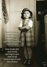 """witzige Postkarte, lustige Sprüche, Kind """"Wenn ich darf"""""""