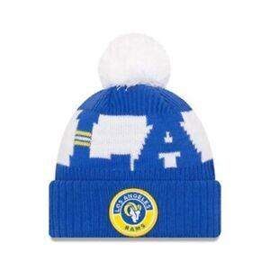 Los Angeles LA Rams On Field Blue New Era Beanie Hat | New w/Tags