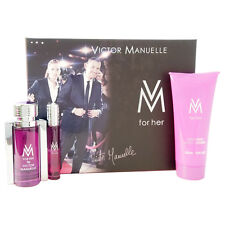 VM Perfume by Victor Manuelle, 3.4 oz / 100 ML  3PC Gift Set EDP Spray Women