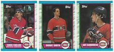 8 1989-90 TOPPS HOCKEY MONTREAL CANADIENS CARDS (CHELIOS/SMITH+++)