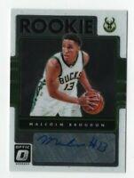 Malcolm Brogdon 2016-17 Panini Optic RC Rookie Auto Autograph Card # 8 Pacers