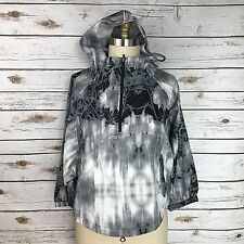 The North Face Black Gray White Gymset Crop Anorak Zip Jacket Women's Size Small