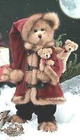 "PAPA CHRISTMAS Faux Mink Bearington Bear 16"" $39.99 New 2003 w/Tags #1340 Rare"
