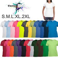 T-SHIRT Blank Plain Basic Tee Top S-2XL Female Ladies Women's Heavy Cotton