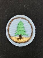 """Vintage Girl Scouts Pine Tree Finder Troop Crest Forest Badge Patch 1-1/8"""" NOS"""