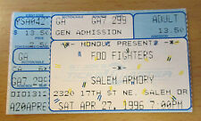 1996 Foo Fighters Salem oder Concert Ticket Stub Dave Grohl Nirvana Sonic Highways
