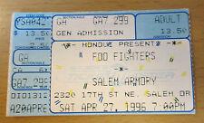 1996 Foo Fighters Salem Or Concert Ticket Stub Dave Grohl Nirvana Sonic Highways