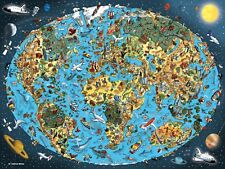 NEW! Ravensburger Cartoon Earth by Hatwig Braun 1500 piece comic jigsaw puzzle