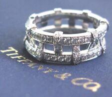 Tiffany & Co Platinum Weave Diamond Band Ring 1.40Ct Size 8